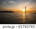 明石海峡大橋の夕景 65783765