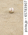 野球のボール(硬式ボール) 65783907