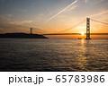 明石海峡大橋の夕景 65783986