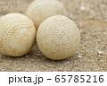 野球のボール(軟式ボール) 65785216