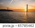 明石海峡大橋の夕景 65785462