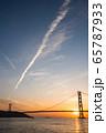 明石海峡大橋の夕景 65787933
