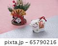 丑の人形とミニ門松 65790216