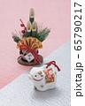 丑の人形とミニ門松 65790217