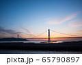 明石海峡大橋の夕景 65790897