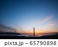 明石海峡大橋の夕景 65790898
