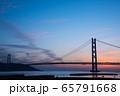 明石海峡大橋の夕景 65791668