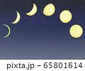 夜空と月の満ち欠け 65801614