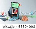 Home delivery, food purchase via the Internet. Your smartphone like track with food arriving to any address worldwide 65804008