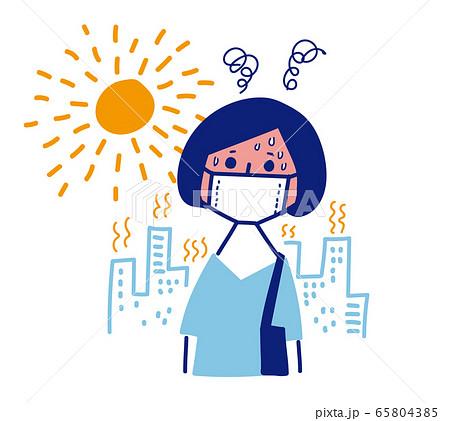 マスク熱中症 65804385