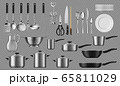 Kitchenware and tableware, crockery vector 65811029