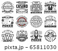 Casino gambling games isolated vector icons 65811030