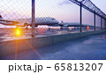 Commercial aircraft at the airport are waiting for departure. 3D Rendering. 65813207