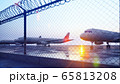 Commercial aircraft at the airport are waiting for departure. 3D Rendering. 65813208