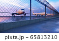 Commercial aircraft at the airport are waiting for departure. 3D Rendering. 65813210