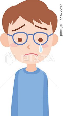 泣いている男の人のイラスト素材