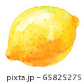 水彩レモン 65825275