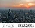 バンコク都市部からの夕景 65832551