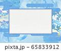 和風背景素材-清涼感-和紙-夏-水紋-波紋 (XLで350dpi A3サイズ) 65833912