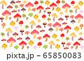 ファンシーなキノコのパターンイラスト 65850083