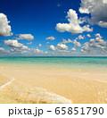 white sandy sea spit beach 65851790