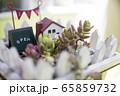 ガーデニングイメージ ミニ雑貨と多肉植物 65859732