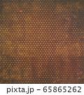 背景素材シリーズ---グランジ ブラウン/ホワイトドット柄 65865262