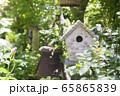 ガーデニングイメージ モルタル造形の巣箱 65865839