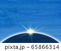 惑星 光線 水彩 65866314