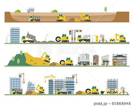 工事 建物 建築 道路 65868948