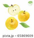 りんごの水彩イラスト 65869609
