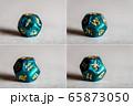 Astrology Dice with zodiac symbols 65873050