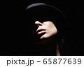 Beautiful woman in hat. Retro style portrait. Girl 65877639