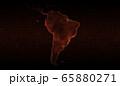 South America map of Corona Virus, red ver.1 65880271
