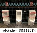 感染対策が取られたトイレ 65881154