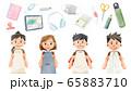 小学生新学期準備イラスト 65883710