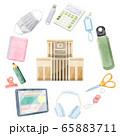 新学期準備するものイラスト 65883711