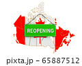 Reopening Canada after quarantine concept 65887512