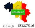 Reopening Belgium after quarantine concept 65887516