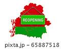 Reopening Belarus after quarantine concept 65887518