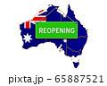 Reopening Australia after quarantine concept 65887521
