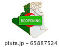 Reopening Algeria after quarantine concept 65887524