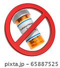 Hydroxychloroquine prohibition. Sign forbidden 65887525