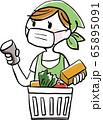 物:レジ マスク 飛沫感染 予防 感染予防 スーパー お買い物 お会計 65895091