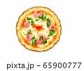 ピザ~卵破れビスマルク&ハーブ 65900777