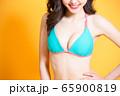 woman has breast augmentation 65900819