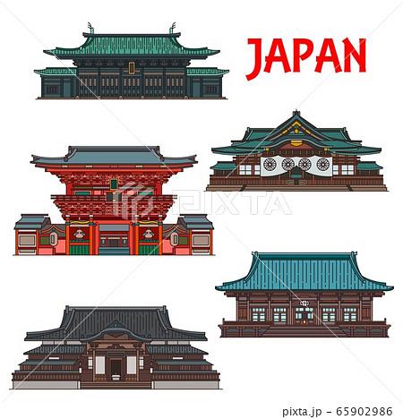 Japanese travel landmarks of Tokyo buildings 65902986