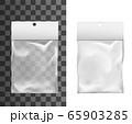 Transparent plastic pocket bag, package mockup 65903285