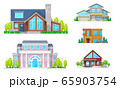 Real estate house building and home icons 65903754