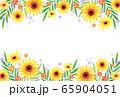 ひまわり 背景 夏イメージ 横 65904051